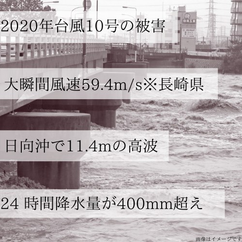 台風10号、宮崎